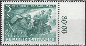 Austria  650    MNH    World Refugee Year