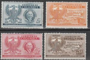 Colombia #673-4, C299-300  MNH (S9566L)