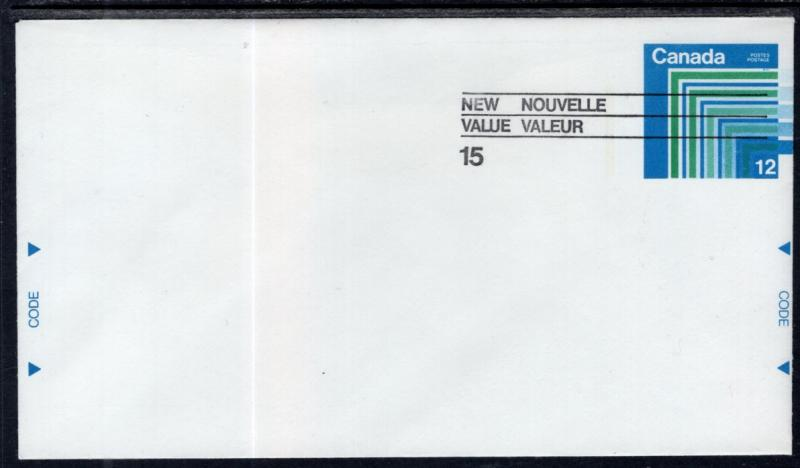 Canada Unitrade U108 Postal Envelope Unused VF