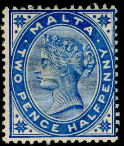 MALTA SG25, 2½d brt blue, M MINT. Cat £50.