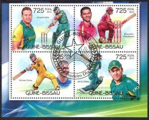 Guinea Bissau 2012 Sport Cricket Sheet Used / CTO