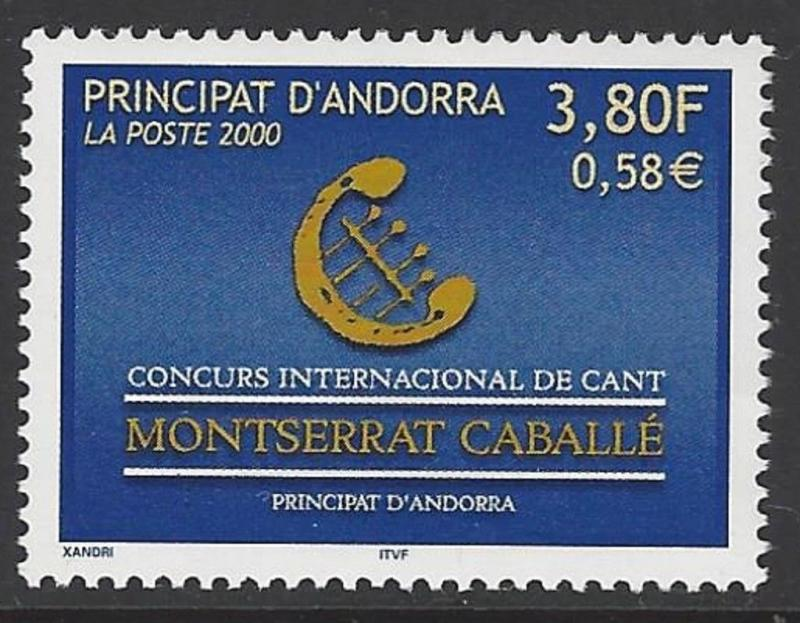 Andorra French 2000 Music Chant VF MNH (520)