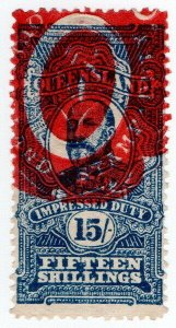 (I.B) Australia - Queensland Revenue : Impressed Duty 15/-