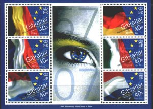 Gibraltar. 2007. bl77. 50 years of the Treaty of Rome. MNH.
