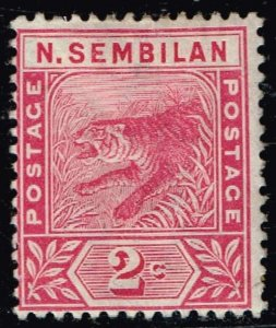 British Colonies & Territories Malaya STATE Negeri Sembilan 1891-94 Tiger MH/OG
