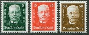 DeutschesReich   Mi.#  403-4+6  Postfrisch mit Falz