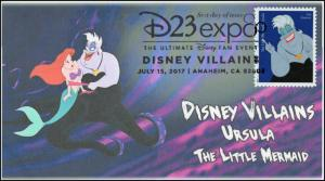 17-177, 2017, Disney Villains, Ursula, The Little Mermaid, Pictorial, FDC
