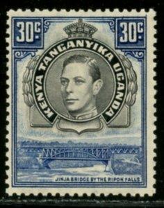 KUT Sc#76b (SG#141) 1938 KGVI 30c Perf Variety Mint NH