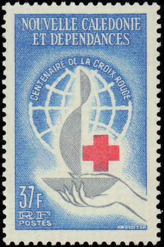 1963 New Caledonia  #328, Complete Set, Hinged