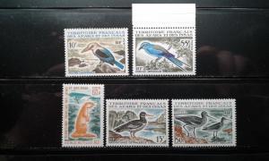 Afars & Issas 310-314 MNH birds