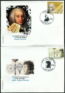 318 - MACEDONIA 2019 - André-Jacques Garnerin - Anders Celsius - Science - FDC