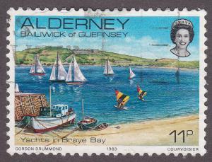 Alderney 5  Yachts In Braye Bay 1983