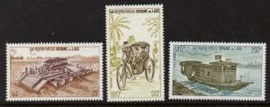 Laos 249-50, C117 MNH River Ferry, Bus, Tricycle, Samlo