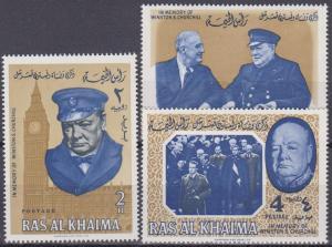 Ras Al Khaima 1965 Churchill Set (A8541)