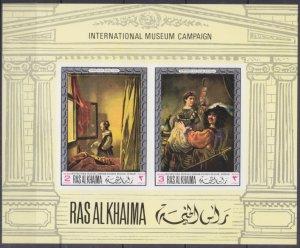 1968 Ras Al Khaima 247-48/B43b Artists / Rembrandt