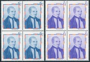 Venezuela 1226-1227 blocks/4,MNH.Mi 2147-2148. Juan Lovera,Artist,1980.