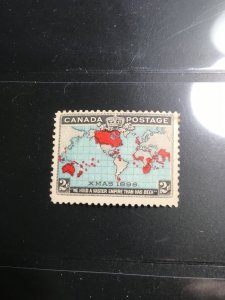 Canada Sc. 86 Mint F+LH 1898 2c Blue Map 2016 Cat. $45. With XMAS1898 on stamp
