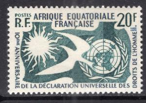 French Equatorial Africa 202 Human Rights MNH VF
