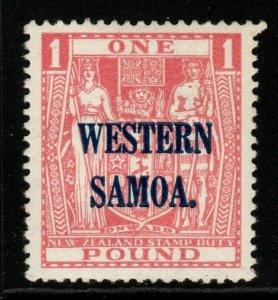 SAMOA SG192 1935 £1 PINK MNH