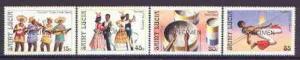 St Lucia 1986 Tourism set of 4 opt'd SPECIMEN, as SG 914-...
