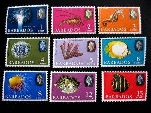 BARBADOS - SCOTT#267-280 - CS - LH - CAT VAL $18.50