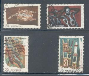 Australia Sc 504-7 1971 Aboriginal Art stamp set used