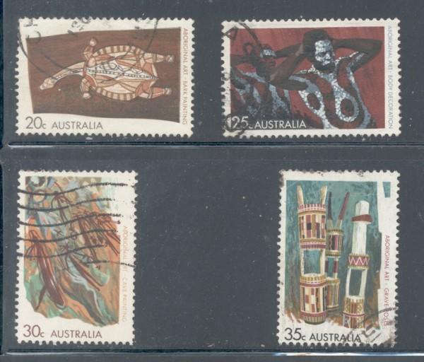 Australia Sc 504-7 1971 Aboriginal Art stamp set used