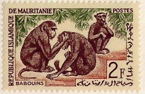Mauritania, Sc 137, MNH, 1963, Monkeys