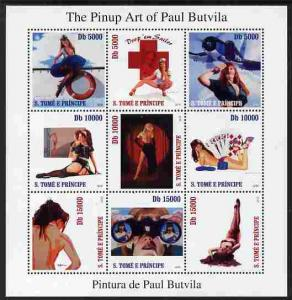 St Thomas & Prince Islands 2010 The Pinup Art of Paul...