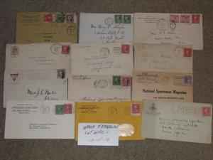 Mixed Lot of Washington-Franklin covers, (12) Lot# WFC1