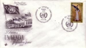 United Nations Geneva Issue FDC Sc.# 13 Flags L375