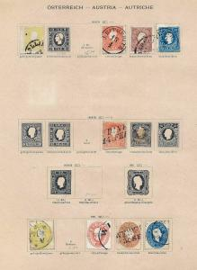 AUSTRIA 1850s/1910 Imperf Dues Officials Used Collection(120+Items) JJ787