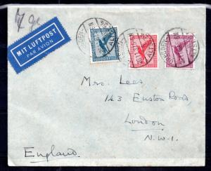 Germany 1932 Airmail Postal History cover to UK WS10250