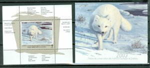 QUEBEC  2003  WILDLIFE ARCTIC FOX...#QW16A..SURCHARGED..MNH...$50.00