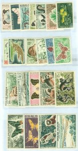 EDW1949SELL : MALAGASY Scott #306-15, C61-69. 2 different Cplt sets MNH. Cat $60