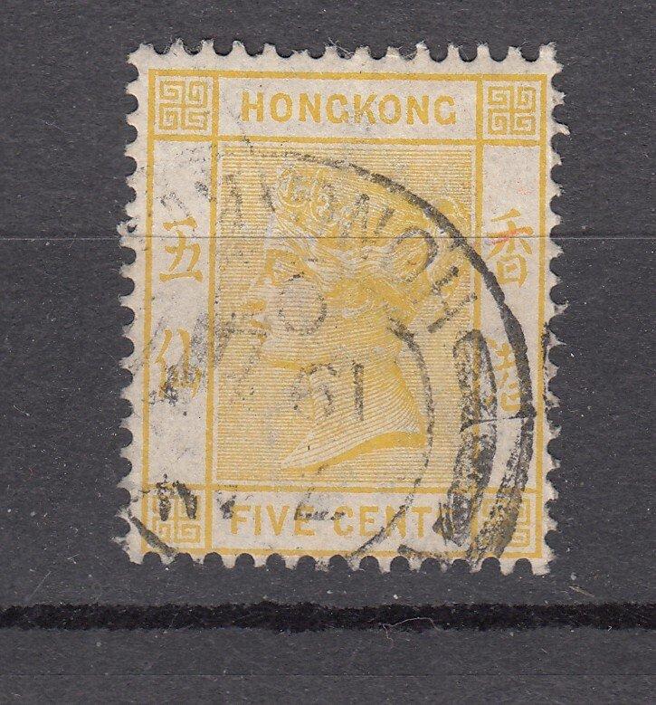 J28269 1882-1902 hong kong used #41 queen wmk 2