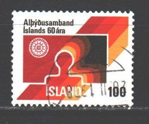 Iceland. 1976. 519. Unions of Iceland. USED.