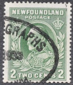 DYNAMITE Stamps: Newfoundland Scott #186 – USED