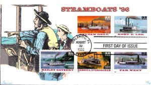 #3091-95 Riverboats Barre FDC