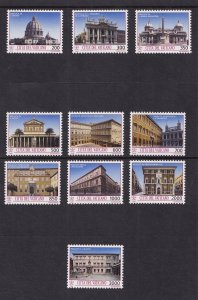 Vatican City   #917-926  MNH  1993  Architecture of Vatican City and Rome