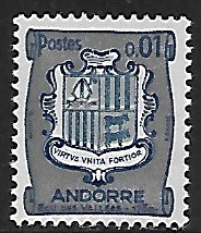 Andorra (French) # 161 - Coat of Arms - LH