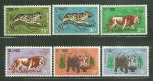 Guinea MNH 248-53 African Animals SCV 7.80