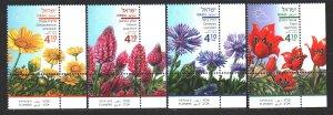Israel. 2018. 2609-12. Flowers flora. MNH.