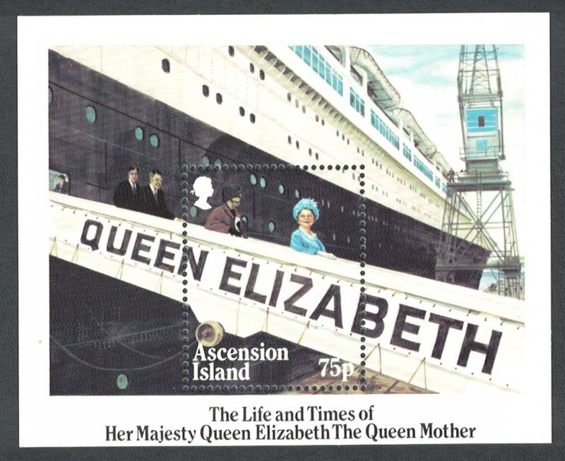 Ascension Life and Times of Queen Elizabeth the Queen Mother MS SG#MS380 SC#376