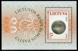 LITHUANIA HOLOGRAM SOUVENIR SHEET SCOTT#612  MINT NEVER HINGED