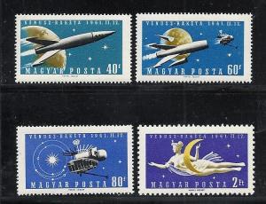 Hungary #1385-8 comp mnh cv $4.00 Space