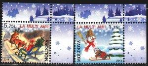 Moldova. 2014. 892-93. Christmas, Santa Claus. MNH.