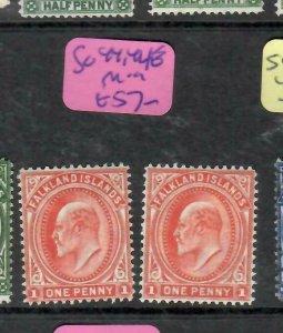 FALKLAND ISLANDS  (PP1106BB)  KE  1D  SG 44, 44E        MOG