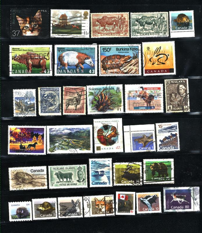 Animals 80 different  Mint & used  PD