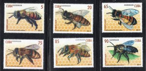 CUBA Sc# 5930-5935  BEES insects CPL SET of 6 stamps 2017  MNH mint